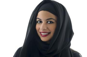 Portrait of a beautiful Arabian Woman wearing Hijab,