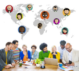Global Community World People Social Networking Connection
