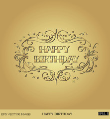 eps Vector image: HAPPY BIRTHDAY