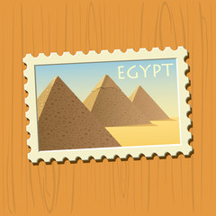 Egyptian pyramids stamp