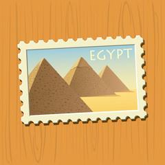 Egyptian pyramids stamp