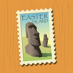 Easter island stamp
