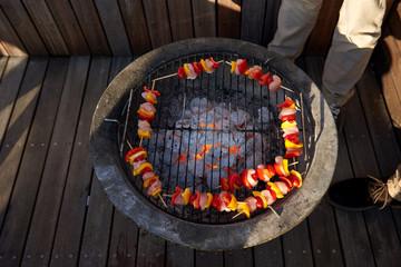 healthy skewer barbecue