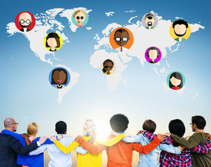 Global Community World Social Networking Connection Concept