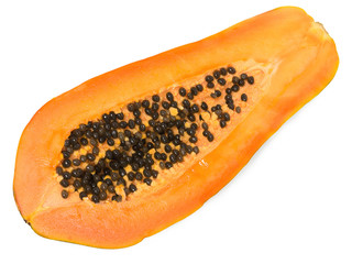 Aufgeschnittene Papaya