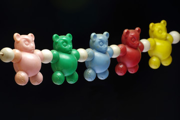 baby rattle bears toy vintage