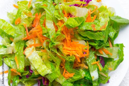 Leinwanddruck Bild gemischter Salat