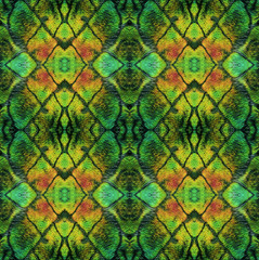Abstract seamless pattern with reptile scales