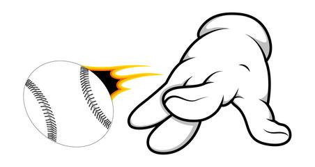Cartoon Hand - Playing Ball - Vector Illustration