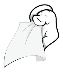 Cartoon Hand - Pass the Tisshue - Vector Illustration