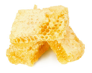 honeycombs isolated on the white background