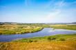canvas print picture - Sorot river, empty rural Russian landscape