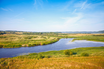 Sorot river, empty rural Russian landscape