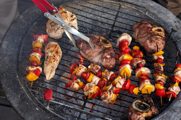 healthy chicken skewer barbecue