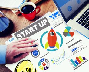 Business Goals Start up Planning Innovation Working Concept