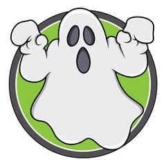 Spooky Ghost Badge