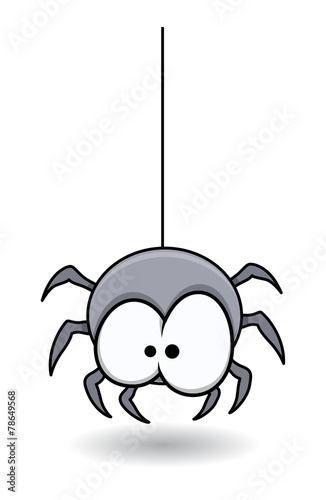 Funny Spider - Halloween Vector Illustration - 78649568