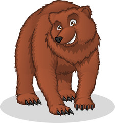High Quality Brown Bear Vector Cartoon Illustration