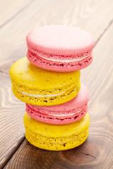 Colorful macaron cookies