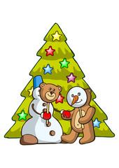 Snowman and Bear