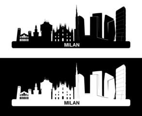 Silhouette di Milano