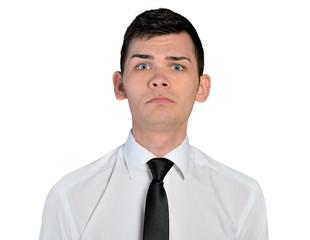 Business man sad face