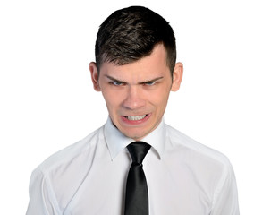 Business man angry face