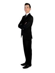 Business man looking camera