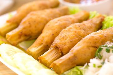 Fried Shrimp with Sugar Cane, Vietnamese food