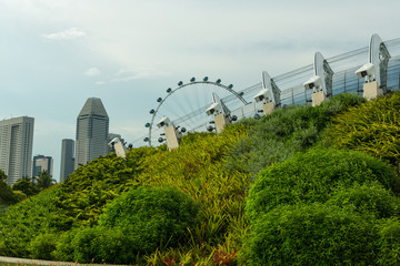 View of Singapore city skyline