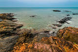magnificent seascape, waves and the stones - 78651591