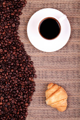 croissants coffee and beans