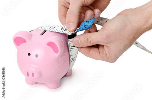 canvas print picture measuring money