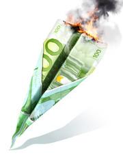 European market crash or dept concept