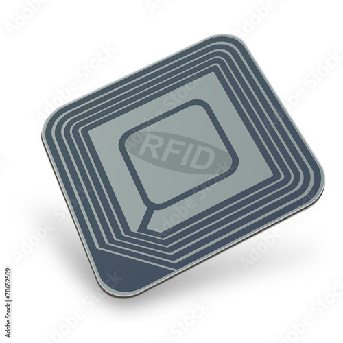 Blue RFID chip (3D) - 78652509