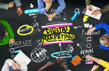 Digital Marketing Branding Strategy Online Media Concept