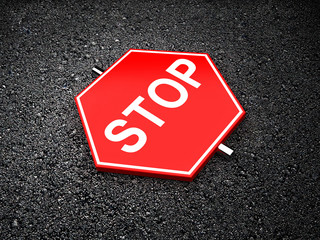 Stop - road sign
