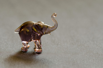 gray elephant made of glass