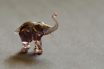 gray elephant made of glass