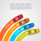 Fototapety Car racing info art cover