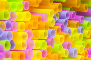 Colorful Straw Abstract Background
