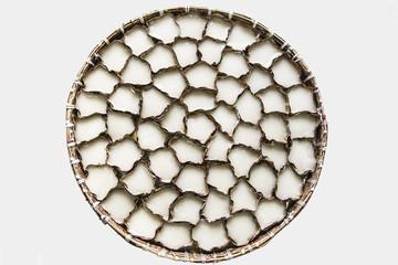 Chinese Sticky Cake On Threshing Basket