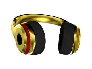 gold exclusive headphones for music.