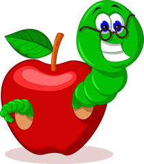 caterpillar and apple for you design