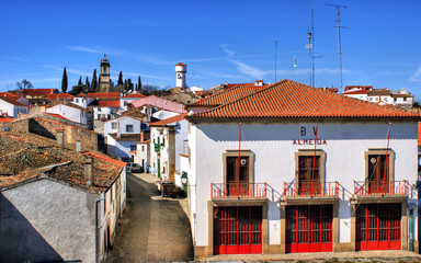 Almeida historical village and fire station in Portugal