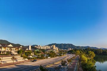 Chungju city cityscape in South Korea