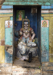 Lord Murugan shrine in Kumbakonam.