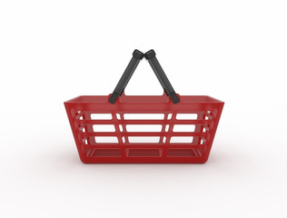 red basket with handles
