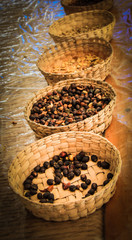 Roasted coffee beans in San sabastian, Mexico