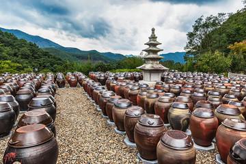 Buddhist monks metal brown pots